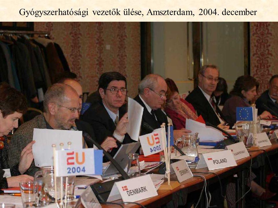 63 Gyógyszerhatósági vezetők ülése, Amszterdam, 2004. december
