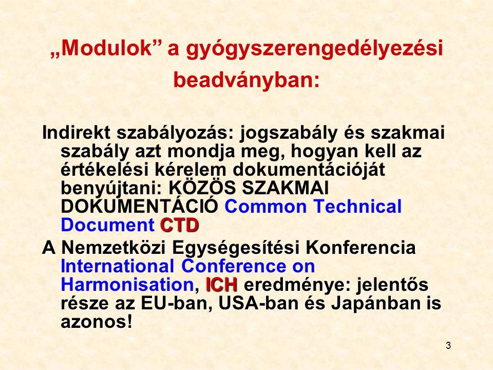 2 A szakmai gyógyszer-értékelés és –engedélyezés lépései A kérelem benyújtása Értékelési szakasz Gyártás, minőség, kísérletes toxikológia (relatív árt