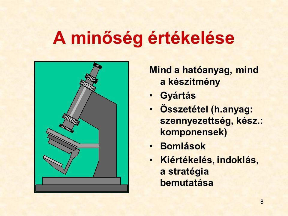 48 Készítmény Gyógyszerészi fejlesztés (a h.a.fiz.- kém.