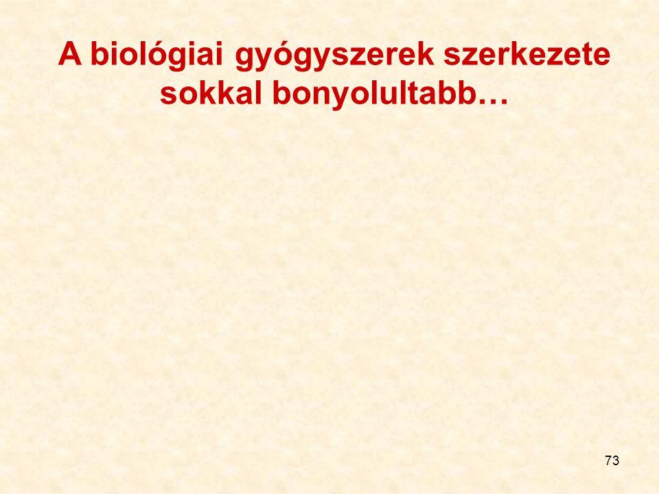 73 A biológiai gyógyszerek szerkezete sokkal bonyolultabb…