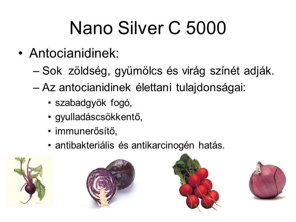 Nano Silver C 5000 Antocianidinek: –Sok zöldség, gyümölcs és virág színét adják.
