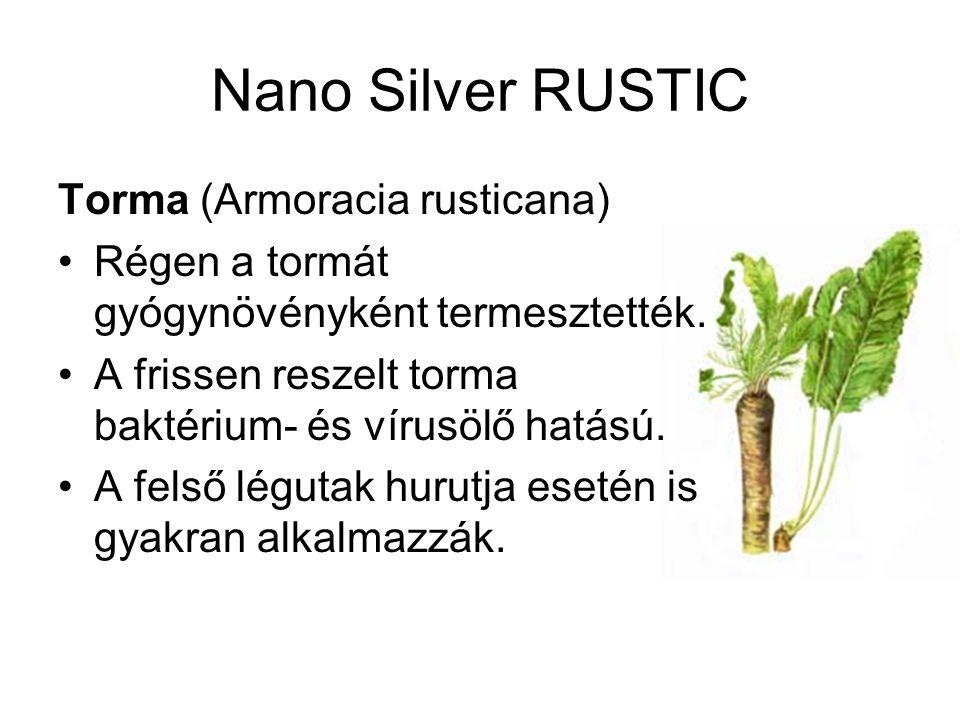 Nano Silver RUSTIC Torma (Armoracia rusticana) Régen a tormát gyógynövényként termesztették.