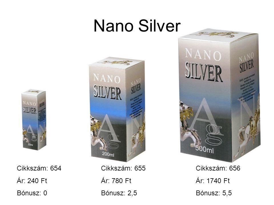 Nano Silver Cikkszám: 654 Ár: 240 Ft Bónusz: 0 Cikkszám: 655 Ár: 780 Ft Bónusz: 2,5 Cikkszám: 656 Ár: 1740 Ft Bónusz: 5,5