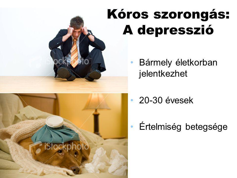 Tünetei Rossz hangulat Érdeklődés és az öröm Koncentráció csökken, memóriazavar Pesszimizmus Étvágy- és alvászavar