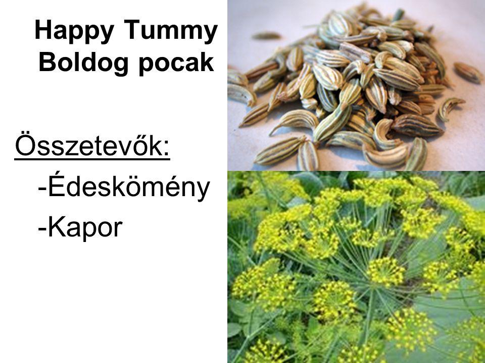 Happy Tummy Boldog pocak Összetevők: -Édeskömény -Kapor