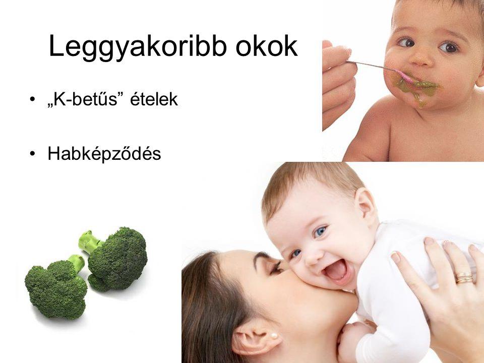 """Leggyakoribb okok """"K-betűs ételek Habképződés"""