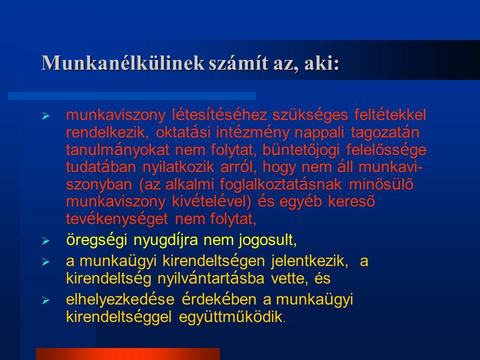 A pályakezdő munkanélküliek létszámának alakulása Pest megyében 1991-2004.