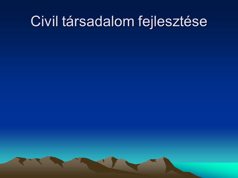 Civil társadalom fejlesztése