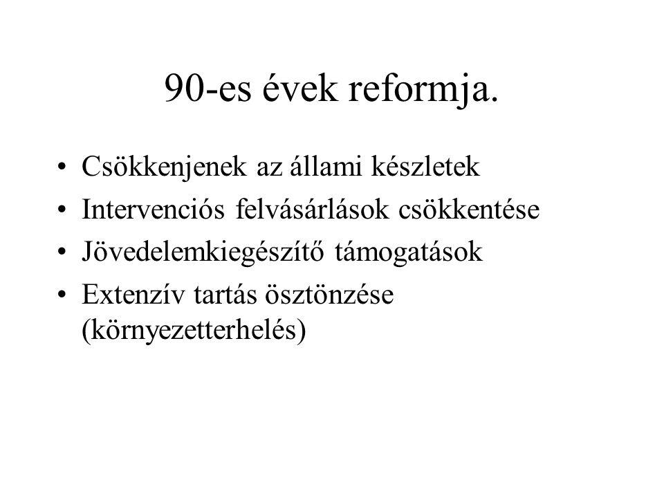 90-es évek reformja.
