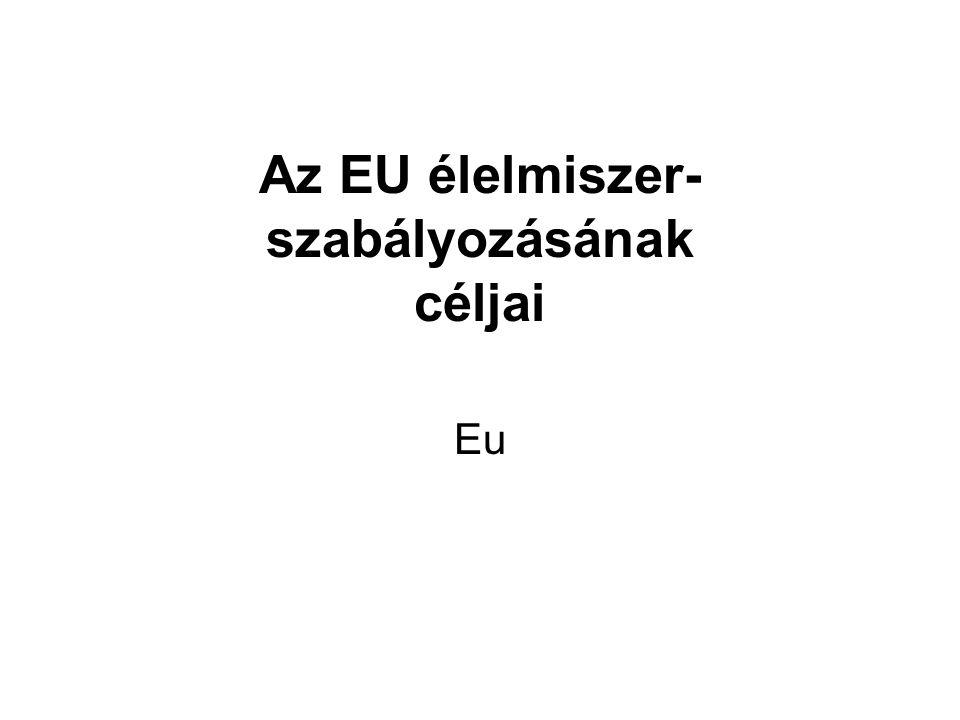 Az EU élelmiszer- szabályozásának céljai Eu