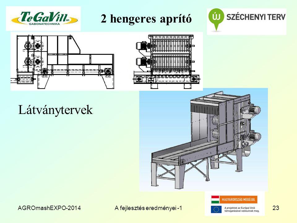 2 hengeres aprító Látványtervek AGROmashEXPO-2014A fejlesztés eredményei -123
