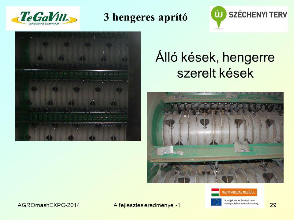 3 hengeres aprító Álló kések, hengerre szerelt kések AGROmashEXPO-2014A fejlesztés eredményei -129