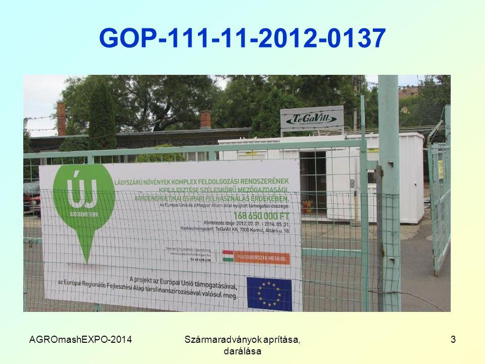 GOP-111-11-2012-0137 AGROmashEXPO-2014Szármaradványok aprítása, darálása 3