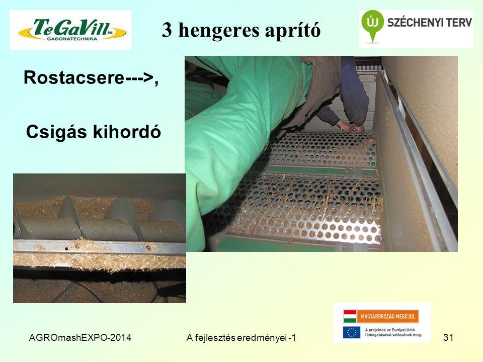 3 hengeres aprító Rostacsere--->, Csigás kihordó AGROmashEXPO-2014A fejlesztés eredményei -131