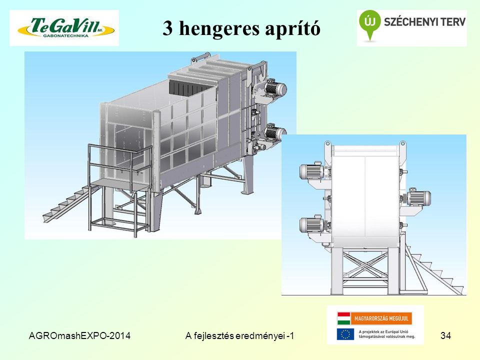 3 hengeres aprító AGROmashEXPO-2014A fejlesztés eredményei -134