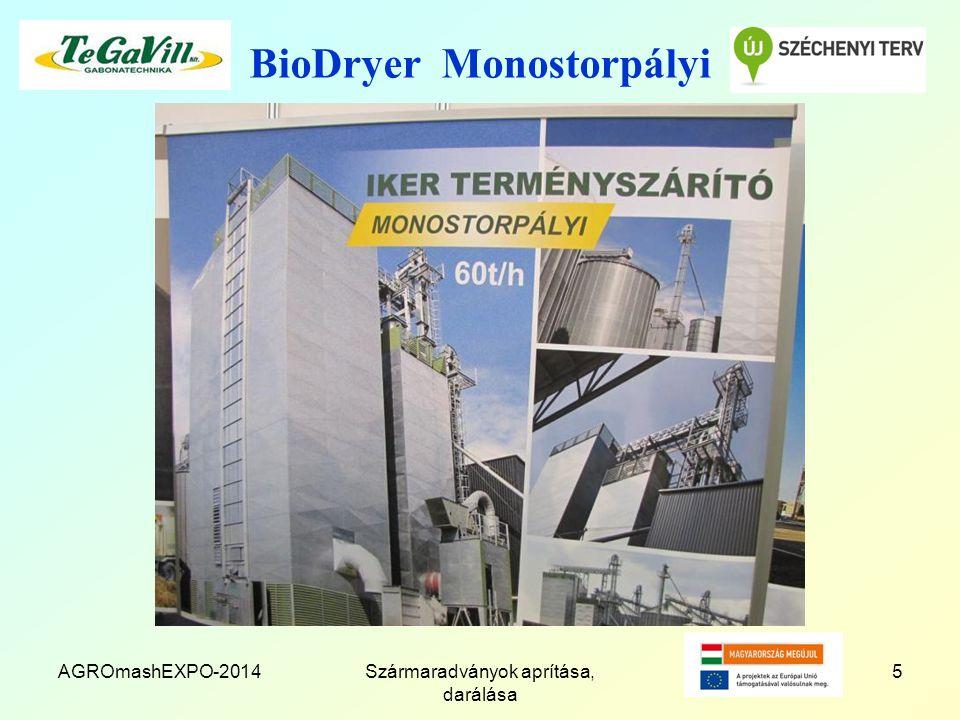 BioDryer Monostorpályi AGROmashEXPO-2014Szármaradványok aprítása, darálása 5