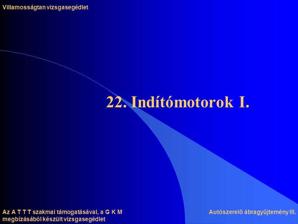 Az A T T T szakmai támogatásával, a G K M megbízásából készült vizsgasegédlet 22.