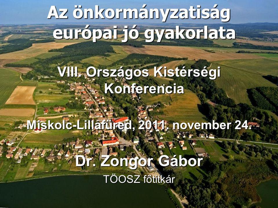 Az önkormányzatiság európai jó gyakorlata VIII.