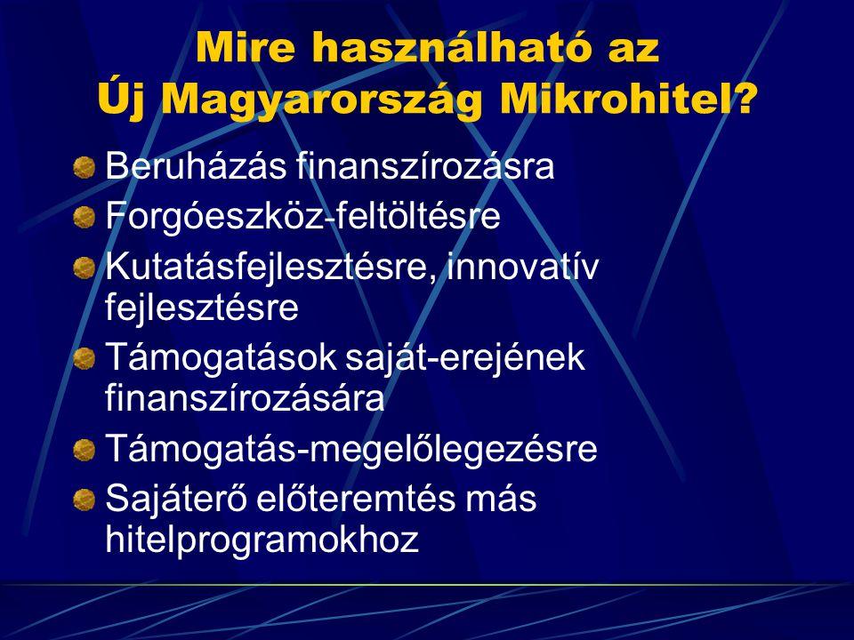 Mire használható az Új Magyarország Mikrohitel.