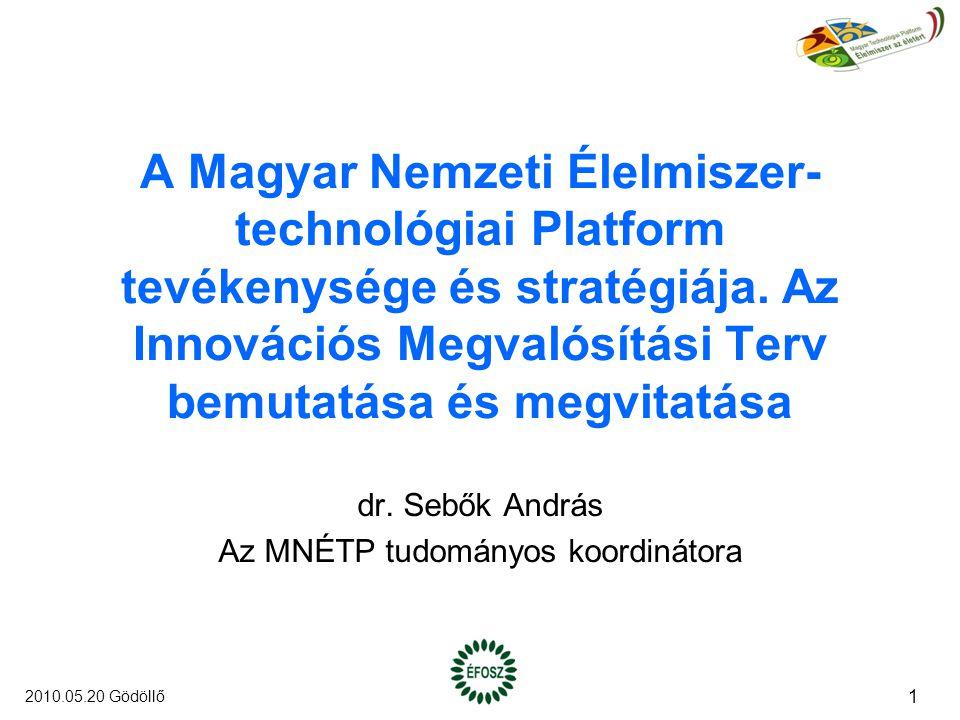 A Magyar Nemzeti Élelmiszer- technológiai Platform tevékenysége és stratégiája.