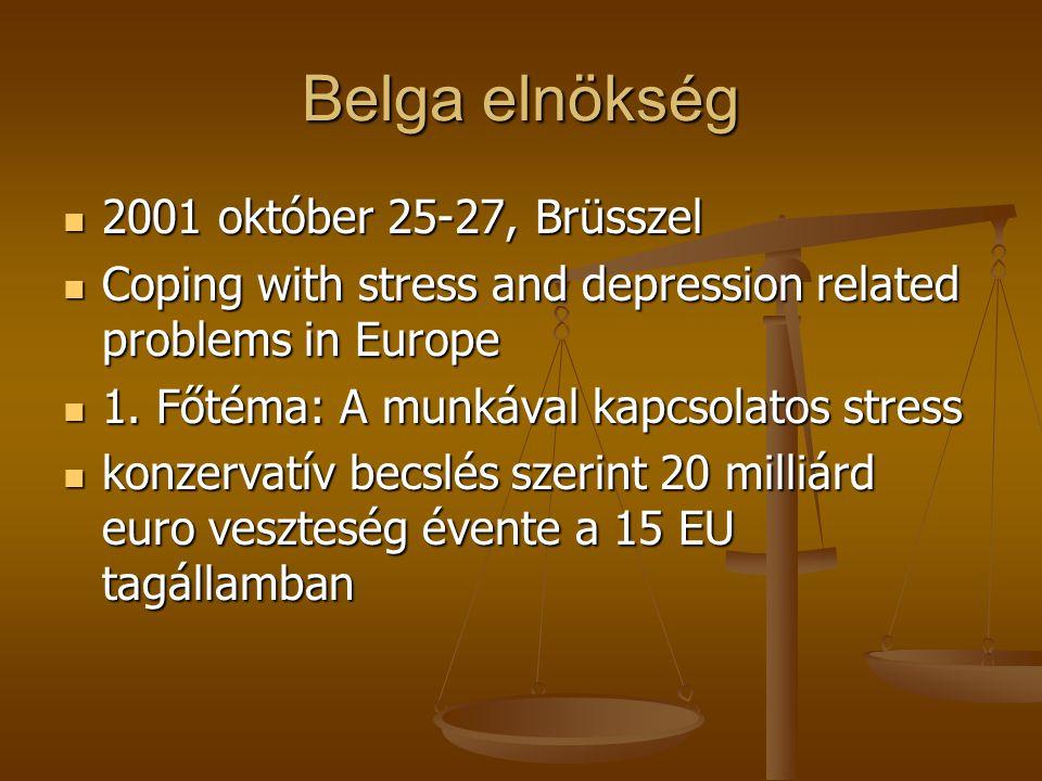 EU konferenciák 1999 Tampere - Finn elnökség idején meghívott előadó: a közép-kelet-európai helyzet- együttműködés Lennart Levivel- WPA Occupational P