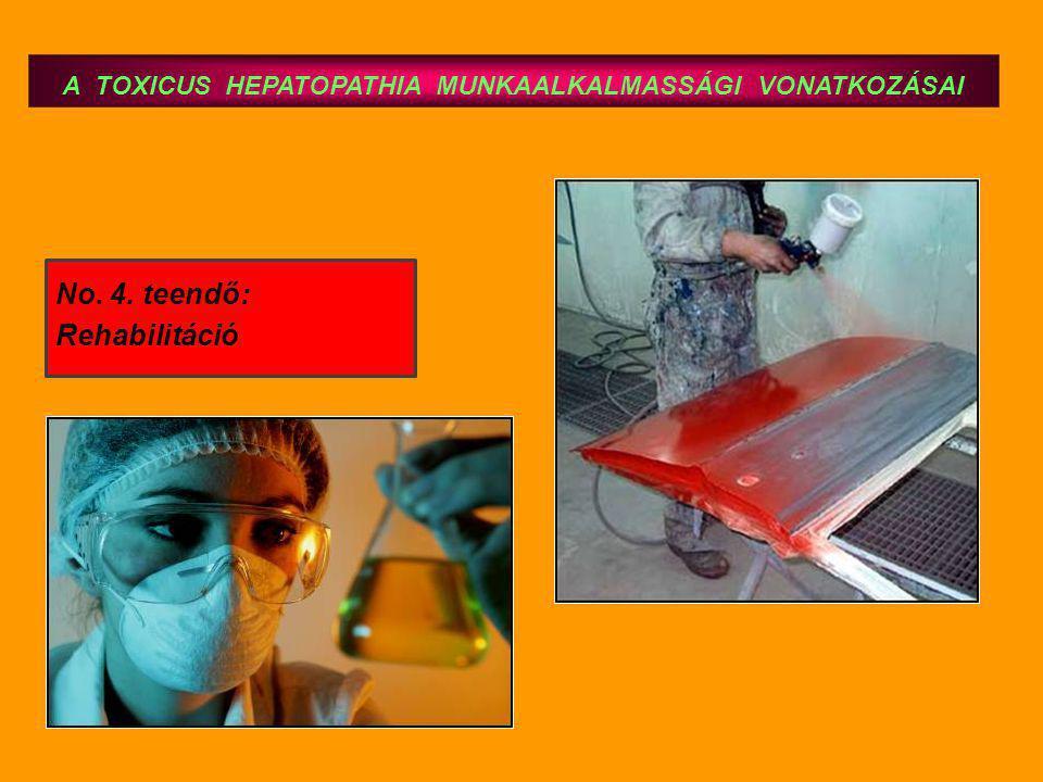 A TOXICUS HEPATOPATHIA MUNKAALKALMASSÁGI VONATKOZÁSAI No. 4. teendő: Rehabilitáció