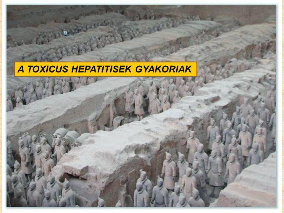 A TOXICUS HEPATITISEK GYAKORIAK