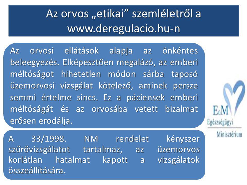 """Az orvos """"etikai"""" szemléletről a www.deregulacio.hu-n Az orvosi ellátások alapja az önkéntes beleegyezés. Elképesztően megalázó, az emberi méltóságot"""