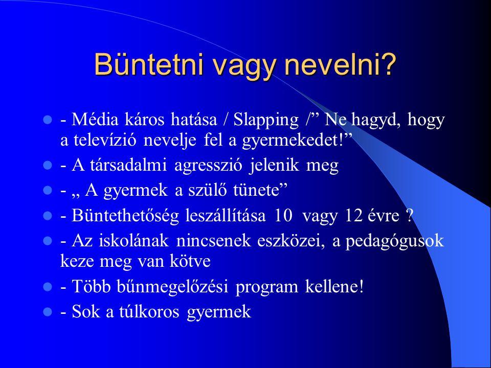 """Büntetni vagy nevelni? - Média káros hatása / Slapping /"""" Ne hagyd, hogy a televízió nevelje fel a gyermekedet!"""" - A társadalmi agresszió jelenik meg"""