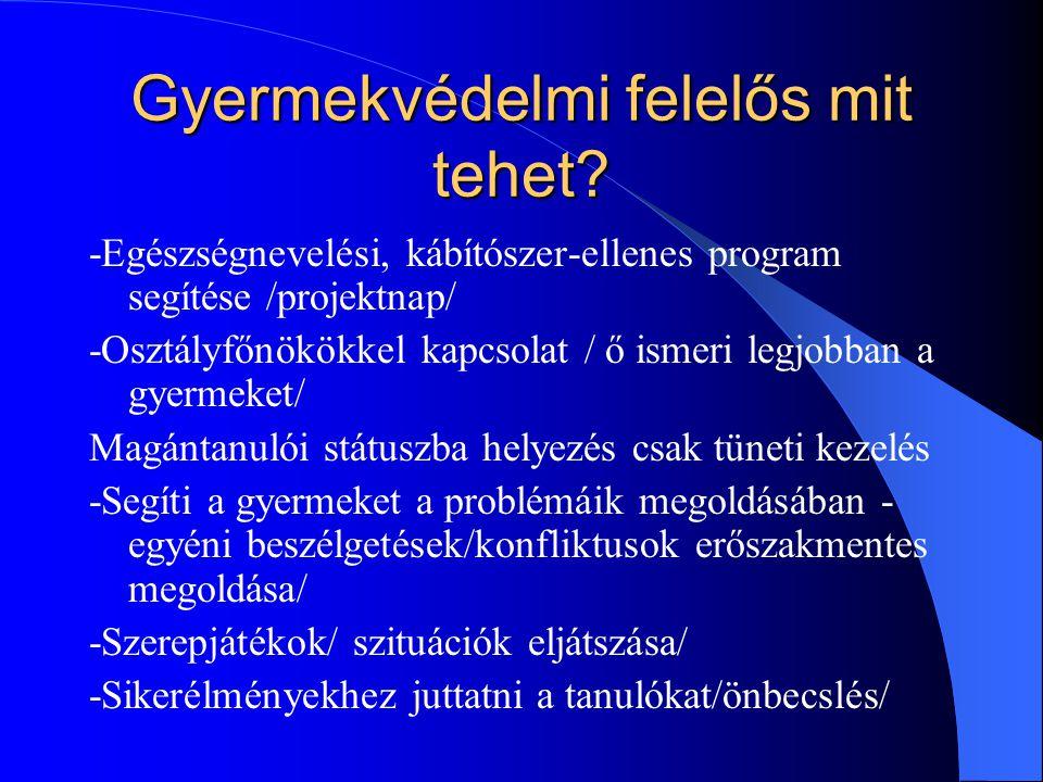 További feladatok -Kompetensebb szakemberhez irányítás / pl.