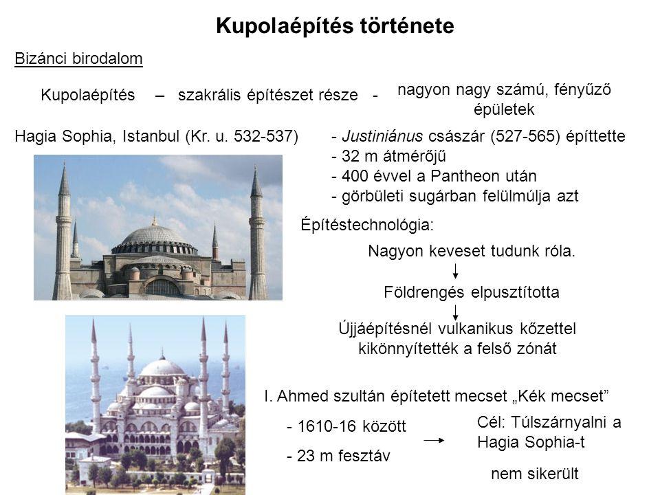 Kupolaépítés története Nagy Szem Stadion (Oita, 2001) L = 274m.