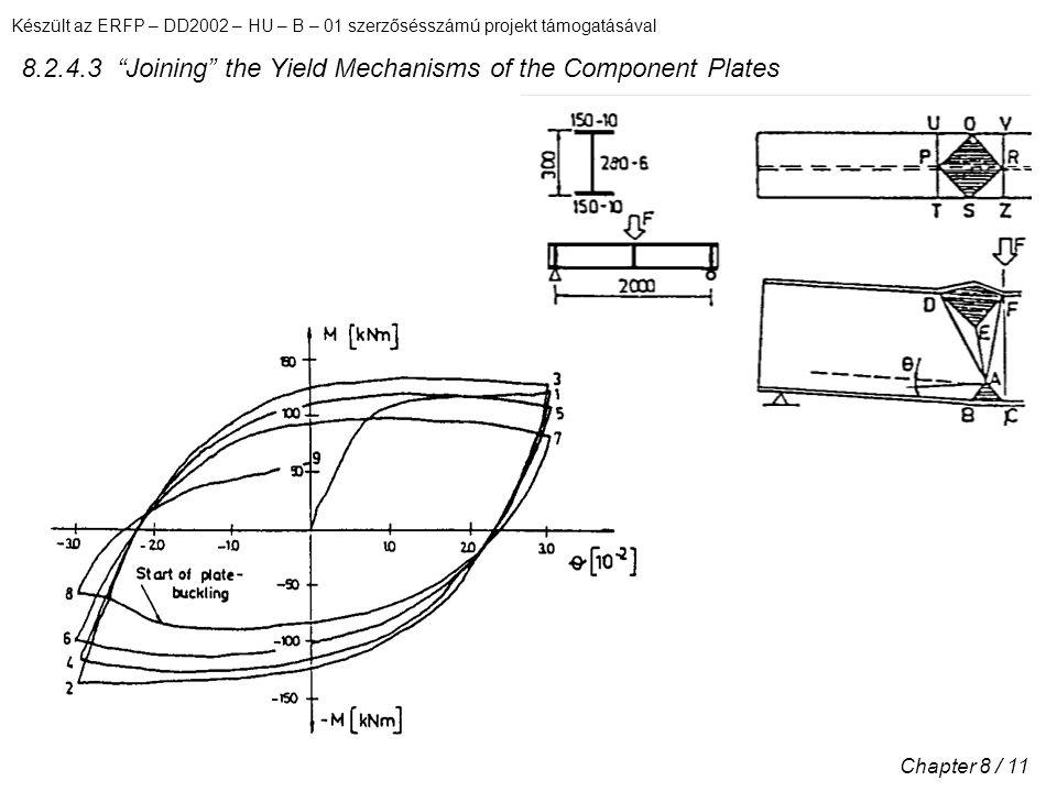 Készült az ERFP – DD2002 – HU – B – 01 szerzősésszámú projekt támogatásával Chapter 8 / 11 8.2.4.3 Joining the Yield Mechanisms of the Component Plates