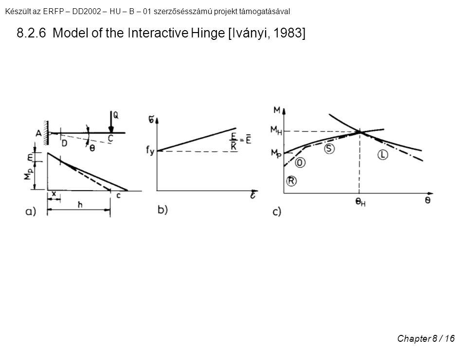 Készült az ERFP – DD2002 – HU – B – 01 szerzősésszámú projekt támogatásával Chapter 8 / 16 8.2.6 Model of the Interactive Hinge [Iványi, 1983]