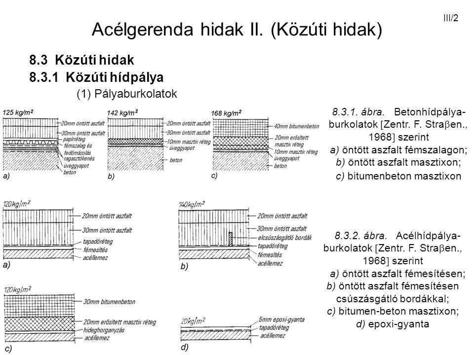 III/23 2.5.4. ábra. Támaszkialakítások statikai rendszerei [Stahlbau, 1974]