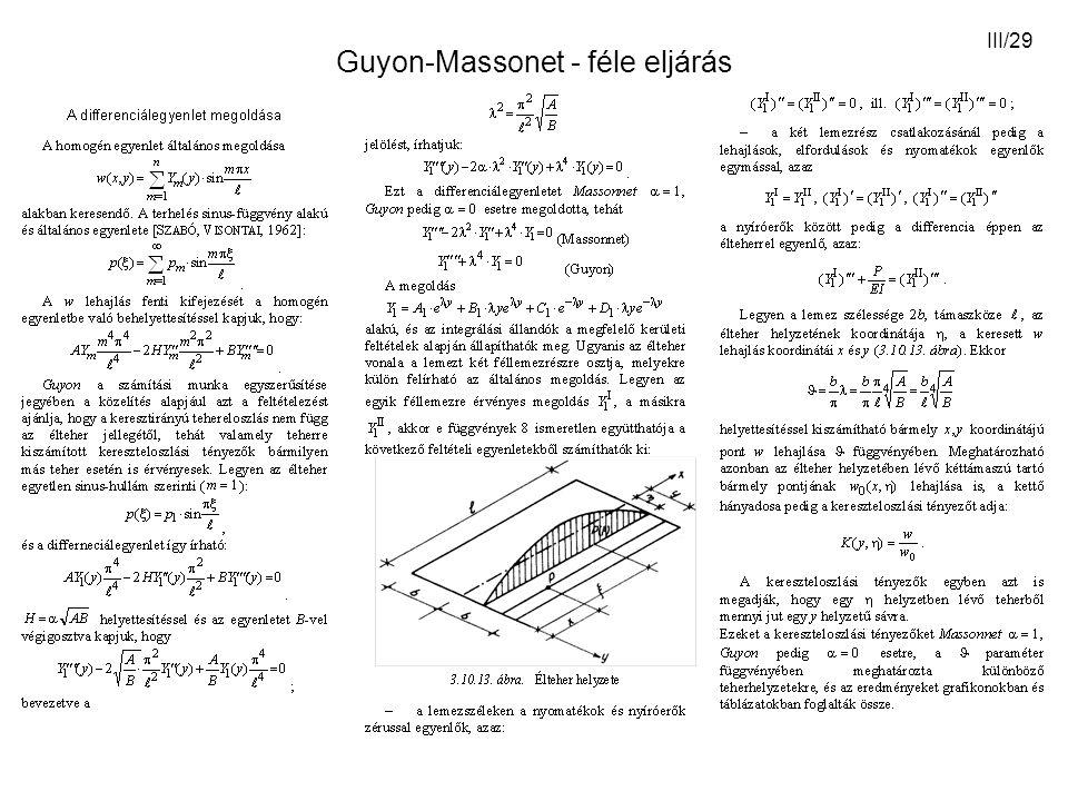 III/29 Guyon-Massonet - féle eljárás