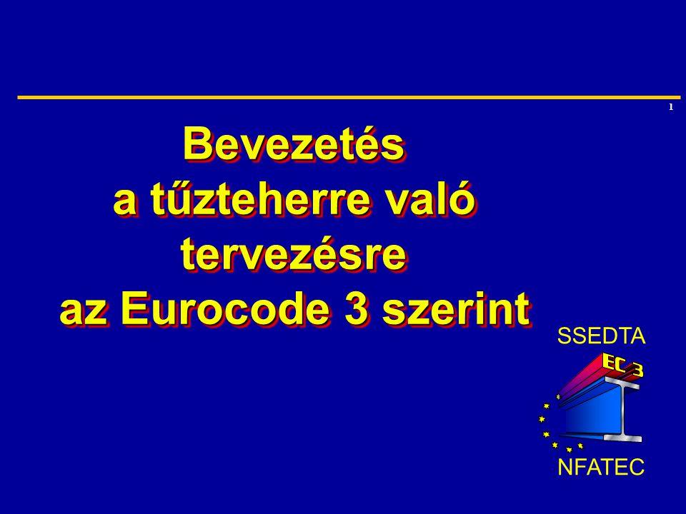 1 Bevezetés a tűzteherre való tervezésre az Eurocode 3 szerint SSEDTA NFATEC
