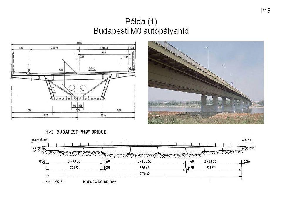 I/15 Példa (1) Budapesti M0 autópályahíd