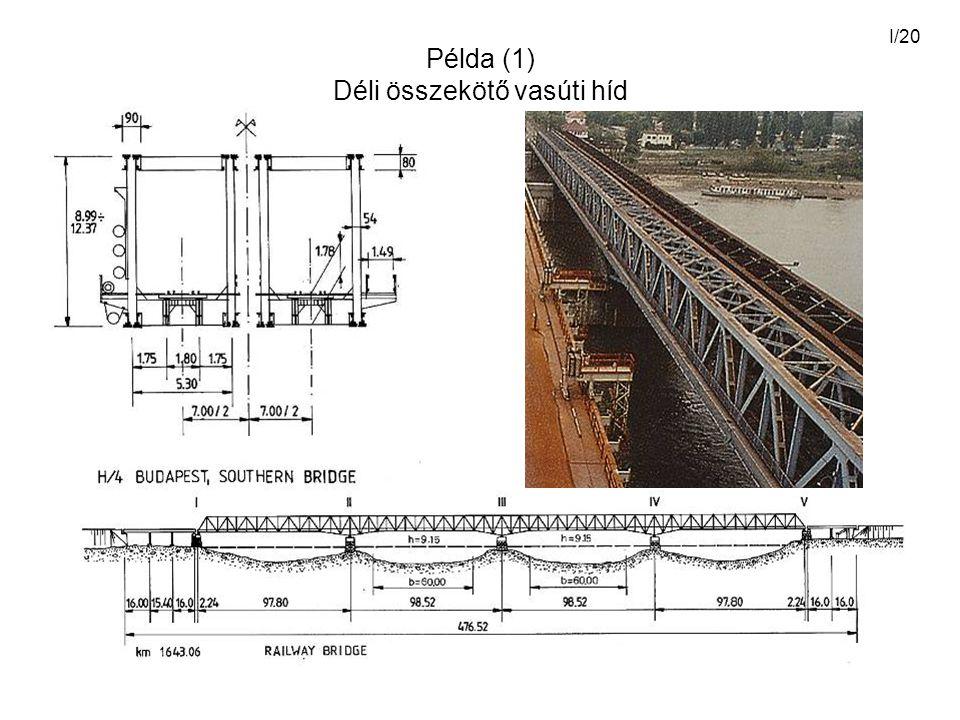I/20 Példa (1) Déli összekötő vasúti híd