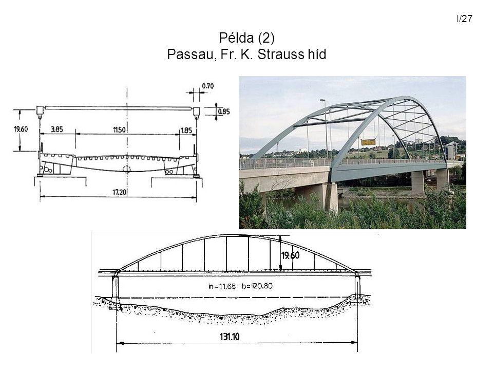 I/27 Példa (2) Passau, Fr. K. Strauss híd