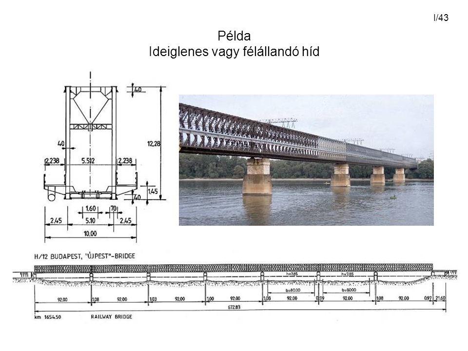 I/43 Példa Ideiglenes vagy félállandó híd
