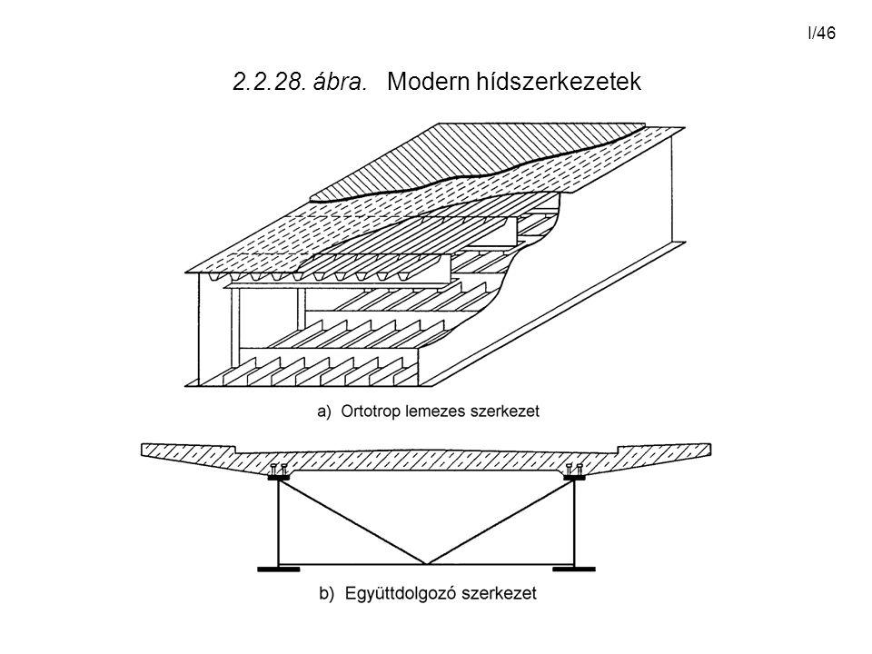 I/46 2.2.28. ábra. Modern hídszerkezetek