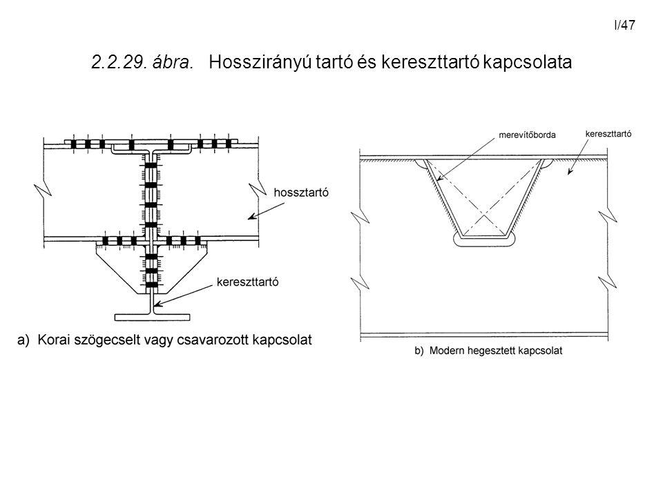 I/47 2.2.29. ábra. Hosszirányú tartó és kereszttartó kapcsolata