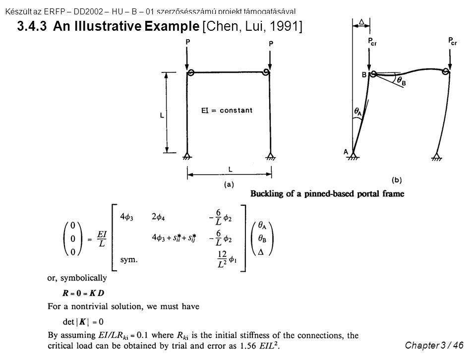 Készült az ERFP – DD2002 – HU – B – 01 szerzősésszámú projekt támogatásával Chapter 3 / 46 3.4.3 An Illustrative Example [Chen, Lui, 1991]