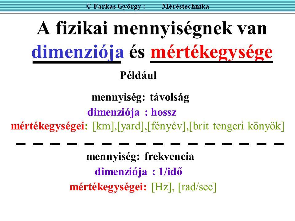 MÉRÉSI ELJÁRÁS Képletek alkalmazása Korrekciók végrehajtása Pl.