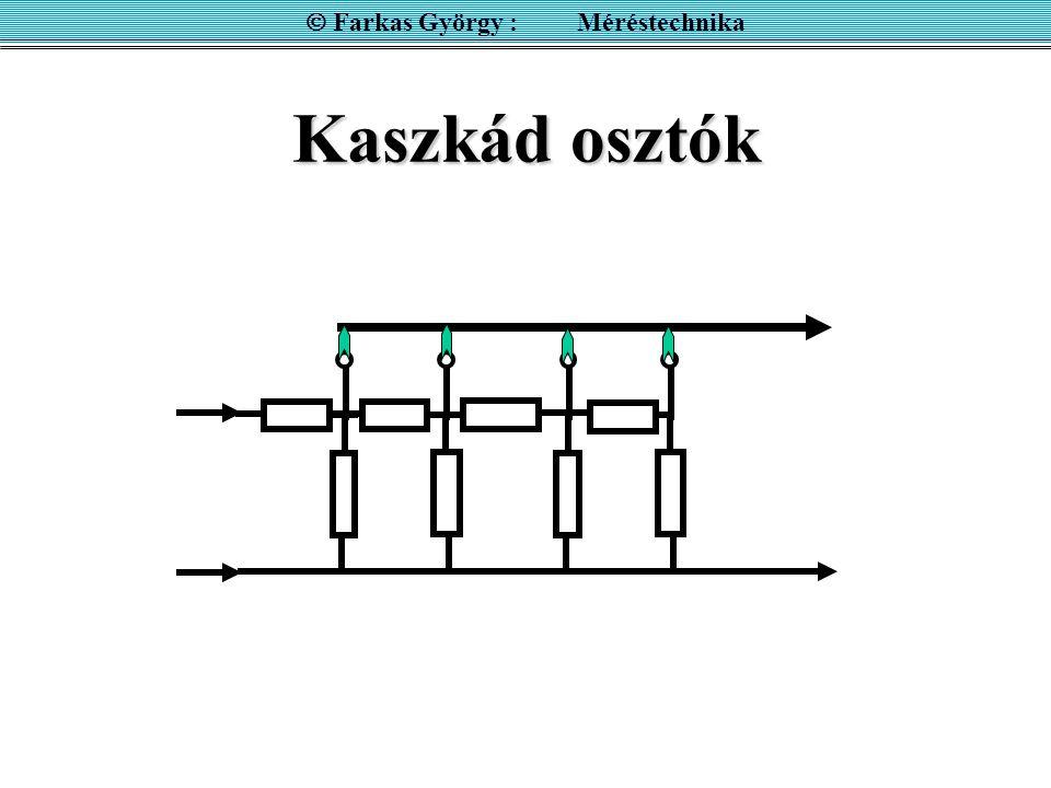 Kaszkád osztók  Farkas György : Méréstechnika