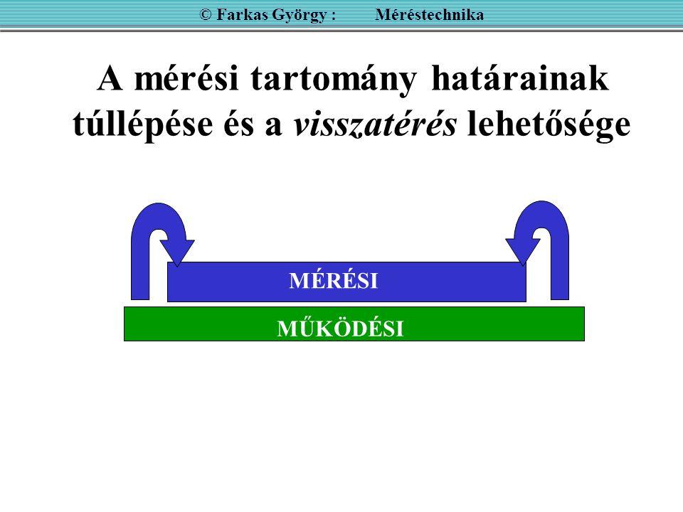 Nagyfrekvenciás analóg elektronikus voltmérő ©Farkas György : Méréstechnika Az INPUT egység egyenirányító, ezt követi a feszültségosztó és a DC erősítő.