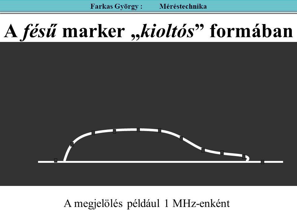 """A fésű marker """"kioltós"""" formában Farkas György : Méréstechnika A megjelölés például 1 MHz-enként"""