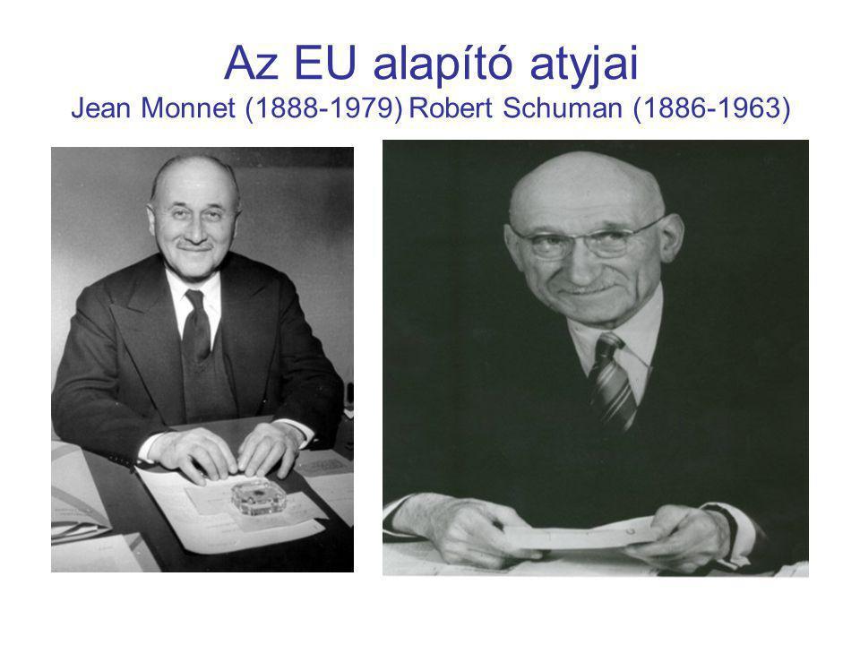 Az EU alapító atyjai Jean Monnet (1888-1979) Robert Schuman (1886-1963)