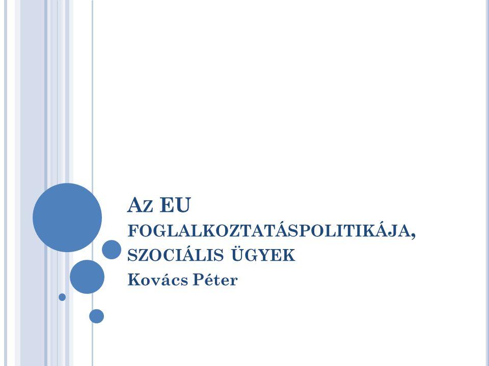 A Z EU FOGLALKOZTATÁSPOLITIKÁJA, SZOCIÁLIS ÜGYEK Kovács Péter
