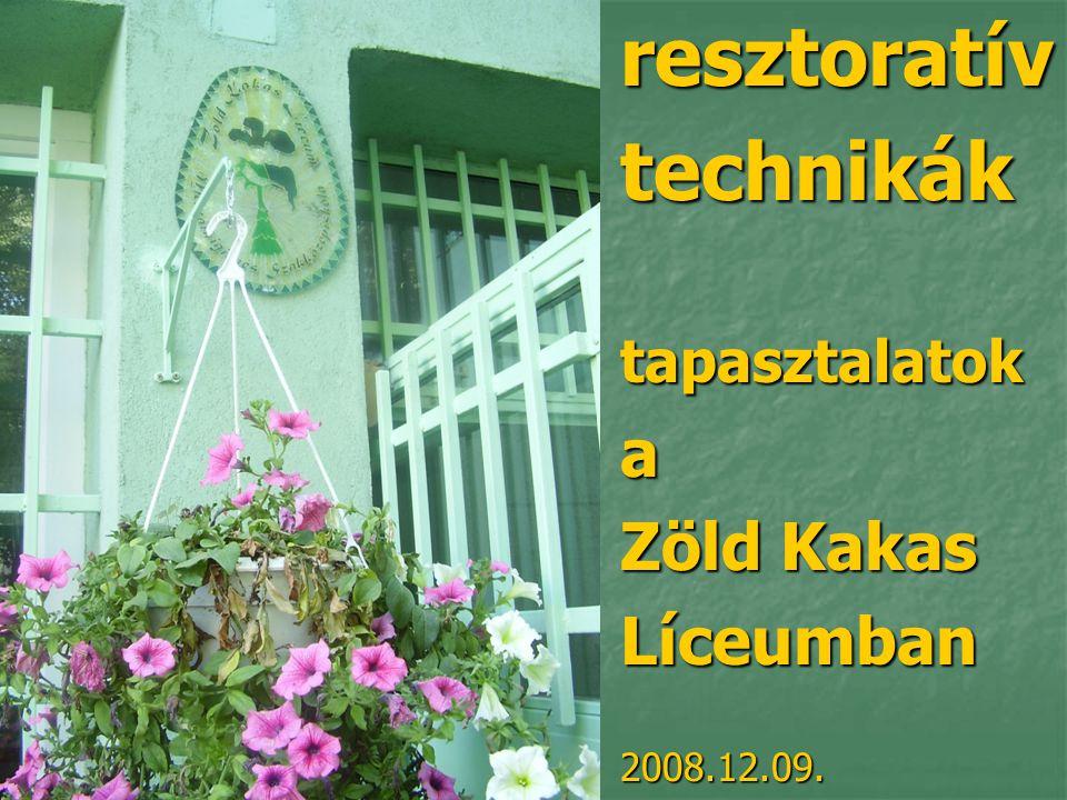 resztoratívtechnikáktapasztalatoka Zöld Kakas Líceumban2008.12.09.